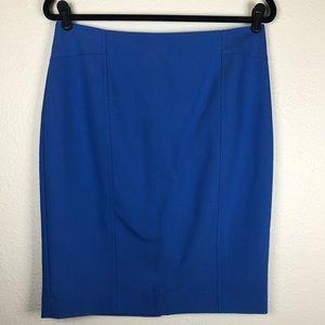 Ann Taylor blue pencil skirt size 8